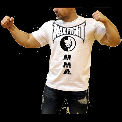 MAX FIGHT - MMA Питбул с къс ръкав - БЯЛA