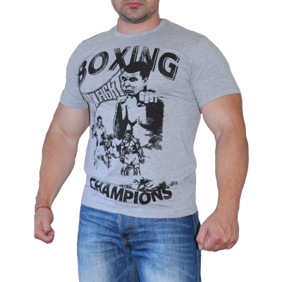 MAX FIGHT BOXING ТЕНИСКА - Сив меланж