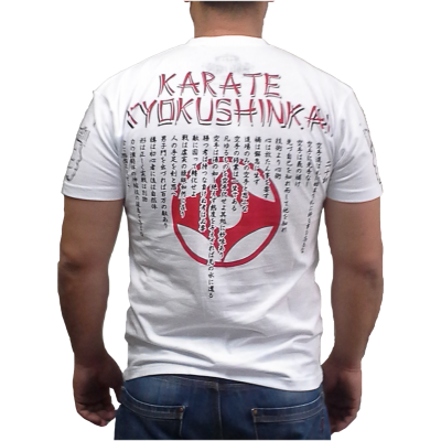 MAX FIGHT KYOKUSHIN  T-shirt, short-sleeved and white