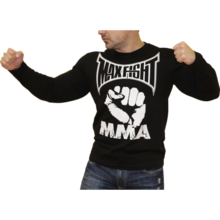 MAX FIGHT  T- shirt long - sleeves-fist- New