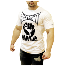 MAX FIGHT - fist - short sleeves - white