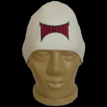 Плетена бяла шапка MAXFIGHT с борд