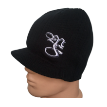 MAX FIGHT - Men's Knitted Black Hat with a Visor