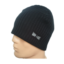 MAX FIGHT - Men' s  Knitted Black hat with fleeceЧЕРНА С ПОЛАР