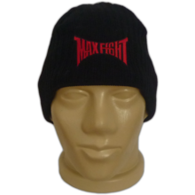 MAXFIGHT Knitted black hat with fleece