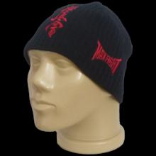 Плетена черна шапка KYOKUSHIN с полар
