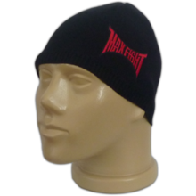 Гладка черна шапка MAXFIGHT