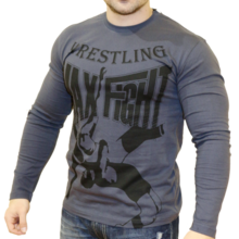 Max Fight Wrestling дълъг ръкав - графит