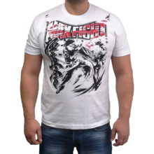 MAX FIGHT KYOKUSHIN  T-shirt, short-sleeved and white