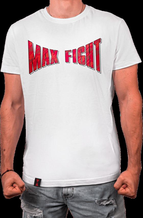 Бяла Тениска - Лого Камуфлаж - MAX FIGHT